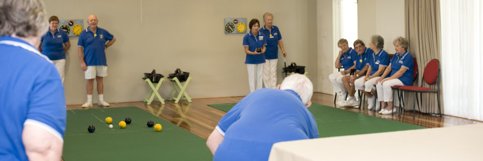 Teranca Mews Lifestyle Village Mandurah - residents playing indoor bowls